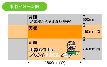 周囲縫製タイプ(側面あり)サイズ表